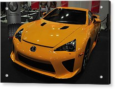Yellow Lexus Acrylic Print