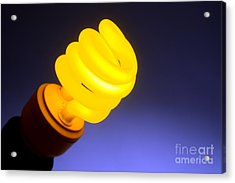Yellow Light Acrylic Print by Olivier Le Queinec