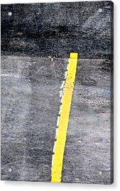 Yellow Line Acrylic Print by John Illingworth