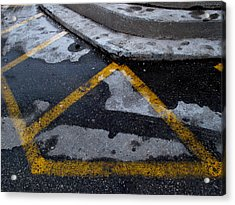 Yellow Lines 2  Acrylic Print by Lyle Crump