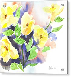 Acrylic Print featuring the painting Yellow Magnolias by Kip DeVore