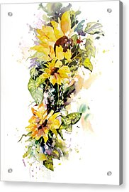 Yellow Majesty Acrylic Print by Rae Andrews