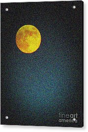 Yellow Man In The Moon Acrylic Print by Colleen Kammerer