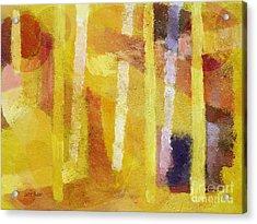 Yellow Mood Acrylic Print by Lutz Baar