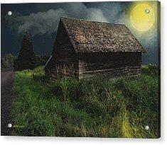 Yellow Moon On The Rise Acrylic Print