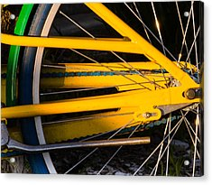 Yellow Motion Acrylic Print