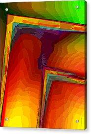 Yellow Orange And Green Design Acrylic Print by Mario Perez