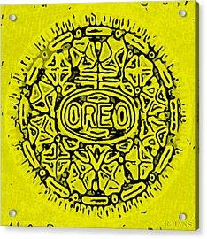 Yellow Oreo Acrylic Print by Rob Hans