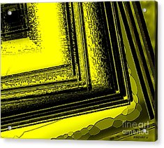 Yellow Over Yellow Art Acrylic Print by Mario Perez