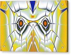 Yellow Owl Acrylic Print by Anastasiya Malakhova