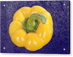 Acrylic Print featuring the photograph Yellow Bell Pepper by Vizual Studio