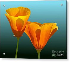 Acrylic Print featuring the painting Yellow Poppies by Rand Herron