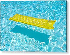 Yellow Raft Floating In A Pool Acrylic Print