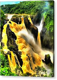 Yellow River Acrylic Print