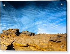Yellow Rock Acrylic Print
