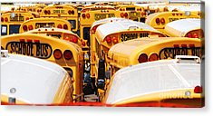 Yellow School Bus Acrylic Print