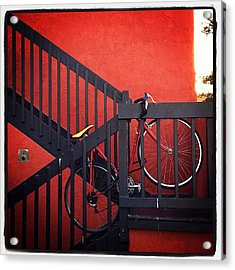 Acrylic Print featuring the photograph Yellow Seat by Kevin Bergen