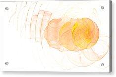 Yellow Splash Acrylic Print by Mark Bowden