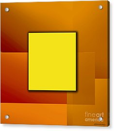 Yellow Square Acrylic Print by Christian Simonian