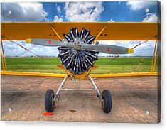 Yellow Stearman Acrylic Print