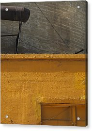Yellow Storefront Acrylic Print by Stuart Hicks