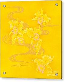 Yellow Stream Acrylic Print by Haruyo Morita