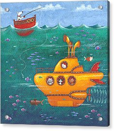 Yellow Submarine Acrylic Print by Peter Adderley