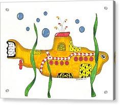 Yellow Submarine Acrylic Print by Sue Brassel