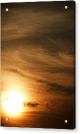 Yellow Sun Acrylic Print by Rajiv Chopra