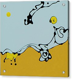Yellow Sun Acrylic Print
