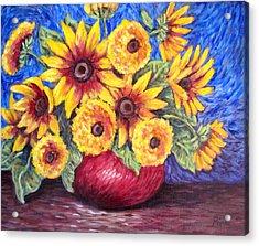 Yellow Sunflowers Acrylic Print