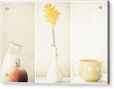 Yellow (triptych) Acrylic Print
