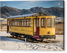 Yellow Trolley Acrylic Print