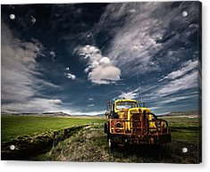 Yellow Truck Acrylic Print by ?orsteinn H. Ingibergsson