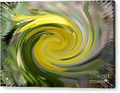 Acrylic Print featuring the digital art Yellow Whirlpool by Luther Fine Art