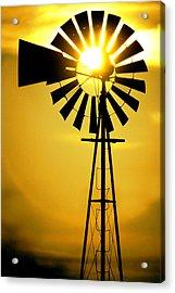 Yellow Wind Acrylic Print