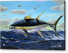 Yellowfin Crash Off0081 Acrylic Print