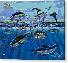 Yellowfin Run Off002 Acrylic Print by Carey Chen