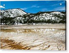 Yellowstone Crackle Acrylic Print