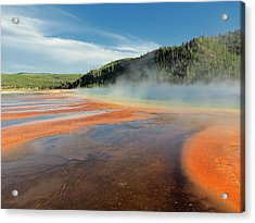 Yellowstone Geyser Acrylic Print by Mountain Dreams