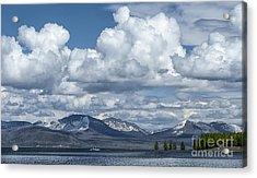 Yellowstone Lake Cloudscape Acrylic Print by Sandra Bronstein