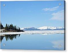 Yellowstone Lake In The Spring Acrylic Print