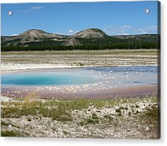 Yellowstone Landscape Acrylic Print by Laurel Powell