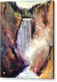 Yellowstone Lower Falls - 1939 Acrylic Print