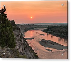 Yellowstone River Color Acrylic Print by Leland D Howard