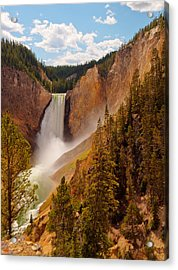 Acrylic Print featuring the photograph Yellowstone River - Lower Falls by Phil Stone