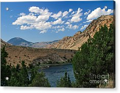 Acrylic Print featuring the photograph Yellowstone River Overlook by Charles Kozierok