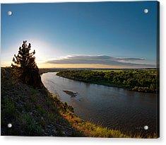 Yellowstone River Sunrise Acrylic Print by Leland D Howard