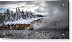 Yellowstone's Fire And Ice Acrylic Print