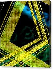 Yelow And Blue Digital Art Acrylic Print by Mario Perez